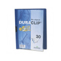 Duraclip Clear Front Vinyl Report Cover, 30-Sheet Capacity, Dark Blue