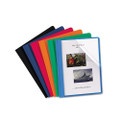 Clear Front Report Covers with Leatherette Back, Assorted Colors, 25/box