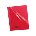 Clear Front Report Covers with Red Leatherette Back, 25 per Box