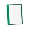 Clear Front Report Covers with Hunter Green Leatherette Back, 25 per Box
