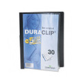Duraclip Clear Front Vinyl Report Cover, 30-Sheet Capacity, Black