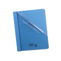 Clear Front Report Covers with Light Blue Leatherette Back, 25 per Box