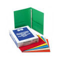 Twin Pocket Portfolios with Three Tang Fasteners, Assorted Colors, 25/box