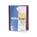Duraclip Clear Front Vinyl Report Cover, 30-Sheet Capacity, Maroon