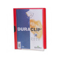 Duraclip Clear Front Vinyl Report Cover, 30-Sheet Capacity, Red