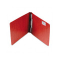 Pressboard Report Cover with Spring-Style Fastener, 8-1/2 x 11, Earth Red