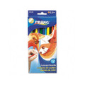 Prang Colored Wood Pencil Set, 3.3 mm, 12 Assorted Colors, 12 Pencils/St