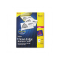 Clean Edge Laser Business Cards, 2 x 3-1/2, White, 400 Cards/box