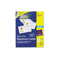 Ink Jet Business Cards, 2 x 3-1/2, White, 10 Cards/Sheet, 1000 Cards/box
