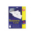 Laser Business Cards, 2 x 3-1/2, White, 10 Cards/Sheet, 250 Cards/pack