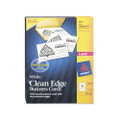 Clean Edge Laser Business Cards, White, 2 x 3-1/2, 2,000 Cards/box
