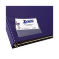 Top Load Self-Adhesive Business Card Holder, 3 1/2 x 2, 10/pack