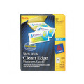 Clean Edge Business Cards for Ink Jet Printer, 2 x 3-1/2, White, 1000 per box