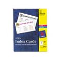 Laser/Ink Jet Unruled Index Cards, 3 x 5, White, 150 per Box