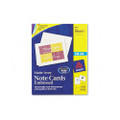 Ink Jet Embossed Note Cards, 4-1/4 x 5-1/2, Ivory, 60 Cards & Envelopes/box
