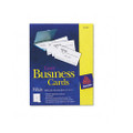 Laser Business Cards, 2 x 3-1/2, White, 10 Cards/Sheet, 2500 Cards per box