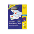 Ink Jet Business Cards, 2 x 3-1/2, White, 10 Cards/Sheet, 250 Cards/pack