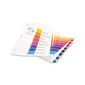 Ready Index Table/Contents Dividers, 8-Tb, 1-8, Letter, AST, 24 Sets/bx