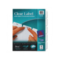 Index Maker White Dividers, 5-Tab, Lsr/IJ, 3-Hole, Letter, Clear, 5/set