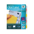 Index Maker Translucent Dividers w/Clr Lbls, 8-Tab, Letter, Multi, 8/St