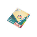 Reinforced Insertable Index, Multicolor 5-Tab, Ltr, Buff, 5/set