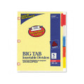 Worksaver Big Tb Dvdrs w/CPR Holes, Mltclr Tbs, 5-Tb, Letter, BF, 5/set