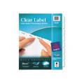 Index Maker White Dividers, 8-Tab, Lsr/IJ, 3-Hole, Letter, Clear, 8/set