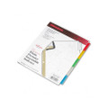 Gold Pro Tab Index, Assorted Color 5-Tab, 8-1/2 x 11, White