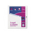 Avery-Style Legal Side Tab Dividers, 26-Tab, 1-25, Letter, White, 26/set
