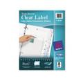 Index Maker Translucent Dividers w/Clr Lbls, 8-Tab, Letter, Clear, 8/St