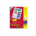 Personal Creations Ink Jet Magnet Sheets, White, 8-1/2 x 11, 5 Sheets/pack