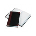 Record/Account Book, Record Rule, BLK/RD, 500 Pgs, 14-1/8 x 8-5/8