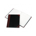 Log Book, Record Rule, Black/Red Cover, 150 Pgs, 10-3/8 x 8-1/8