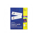 White Laser/Ink Jet Tent Cards, 2-1/2 x 8-1/2, 2 Cards/Sheet, 100 Cards per Box