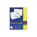 White 4-1/4 x 5-1/2 Laser Note Cards, 2 Cards/sheet, 60 Cards & Envelopes/box