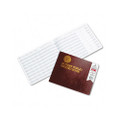 Notary Public Record, Burgundy Cover, 60 Pages, 8-1/2 x 10-1/2