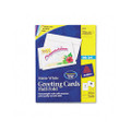 Ink Jet Greeting Cards, 5-1/2 x 8-1/2, White, 30 Cards/Envelopes per box