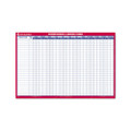 Reversible/Erasable 12mo Vacation Planner, Laminated, 36 x 24, WE