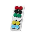 High Energy Extra-Strong 3/4 Diameter Magnets, Assorted Colors, 12 per Pack