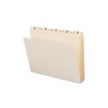 Indexed File Folders, 1/5 Cut, Indexed A-Z, Top Tab, Ltr, Manila, 25/set