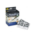 PhoneKleen Wet Wipes, Cloth, 3-1/4 x 3-1/4, 72/box