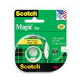 "Scotch Magic Office Tape with Refillable Dispenser, 1/2"" x 22 Yards, Clear"