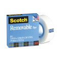 "Scotch Removable Tape, 3/4"" x 36 Yards, 1"" Core"