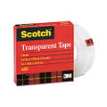 "Scotch Transparent Glossy Tape, 1/2"" x 36 Yards, 1"" Core, Clear"