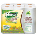 100% Premium Recycled Giant Roll Towels, 5-3/4 x 11, 140/Roll, 6/Pack