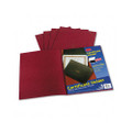 Certificate Holder, Linen Stock, Burgundy, 5 per Pack
