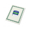 Parchment Paper Certificates, 8-1/2 x 11, Optima Green Border, 25 per Pack