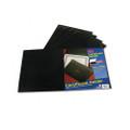 Certificate Holder, Linen Stock, Black, 5 per Pack
