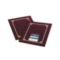 Certificate/Document Cover, 80-Lb. Linen, Gold Foil, Burgundy, 6/pk