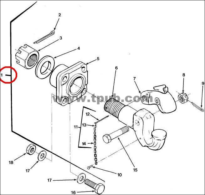 Pintle Assembly Tow Nsn 2540 01 475 9206